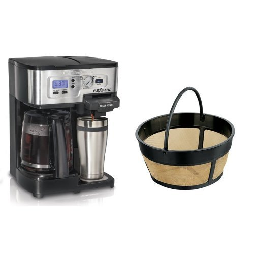 Hamilton Beach FlexBrew 49983A Single Serve / Full Pot Coffee Maker and Hamilton Beach 80675 ...