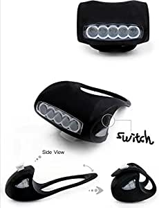 7-LED Cycling Bike Bicycle Super Bright Frog Light Headlight (Black)