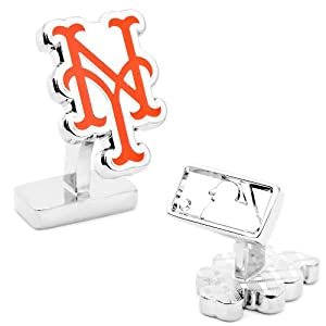 MLB Palladium Plated Cufflinks MLB Team: New York Mets Style 2 by Cufflinks Inc.