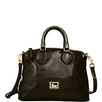 Dooney & Bourke Patent Leather Crossbody Satchel, Black