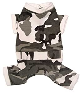 Grey Camouflage Pattern Bodysuit for Small Dogs - XS
