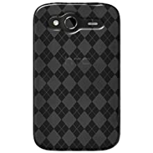 Amzer AMZ91278 Luxe Argyle High Gloss TPU Soft Gel Skin Case for HTC Wildfire S (Smoke Grey)