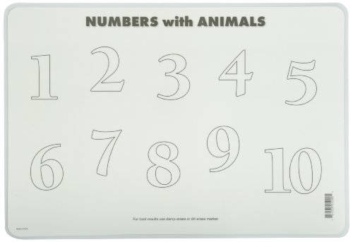 Painless Learning Numbers with Animals Placemat