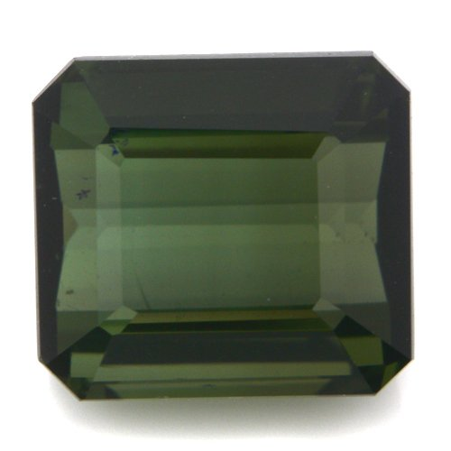 Natural Africa Green Tourmaline Loose Gemstone Emerald Cut 9*8mm 4.45cts