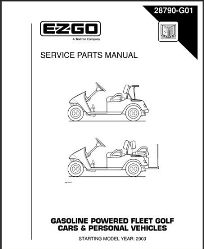 Ezgo Golf Carts Equipment. Ezgo 28790g01 20032005 Service Parts Manual For Gas Txt Fleet Cars And. Wiring. Electric Golf Cart 36 Volt Ez Go St350 Wiring Diagram For At Scoala.co