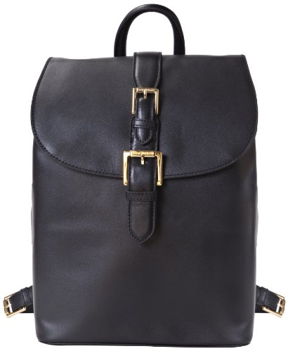 Isaac Mizrahi Kathryn mini Camera Backpack in Genuine Leather for DSLR Cameras, Lenses, Accessories and Other Tech Items-with Removable Internal Padded Pouch