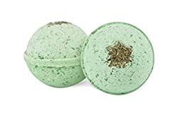 2 x Awaken Your Senses - Energizing Ultra Lush Bath Bombs - Peppermint, Clary Sage and Juniper Berry