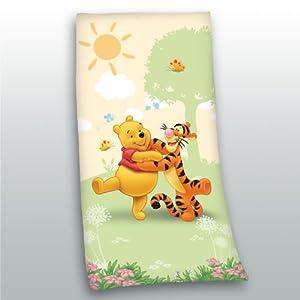 serviette sortie drap de bain winnie l ourson plage piscine enfant fille garcon 75 cm x 150 cm. Black Bedroom Furniture Sets. Home Design Ideas