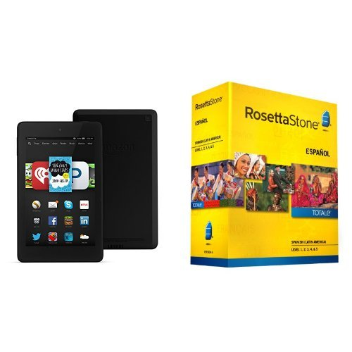 Learn Spanish: Rosetta Stone Spanish - Level 1-5 Set (Includes Free Fire HD 6)