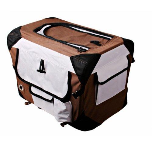 [Golden Tulip®]Hunde Transportbox 7 Größen Hundebox Katzenbox Kennel faltbar braun 0124045