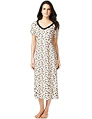 Per Una Pure Cotton Floral Long Nightdress