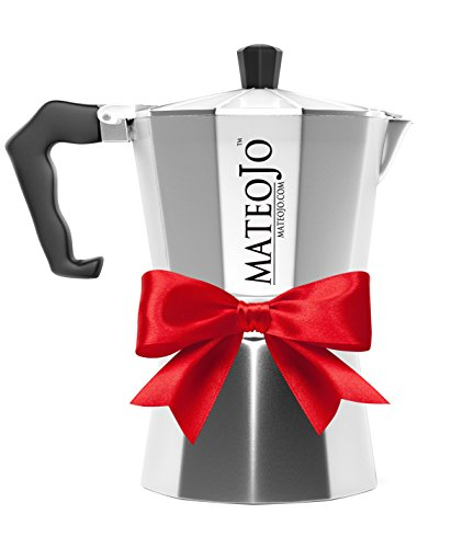 Stovetop Espresso Maker - Italian Moka Pot - Cafetera - Cuban Coffee Machine - 3 Cups by MateoJo ... (Espresso Cups Vintage compare prices)