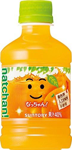 サントリー なっちゃん オレンジ 280ml ペット×24本