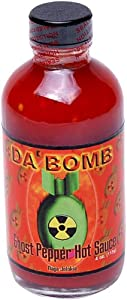 Dabomb Ghost Pepper Hot Sauce 4-ounce Bottles Pack Of 4 by Da'Bomb