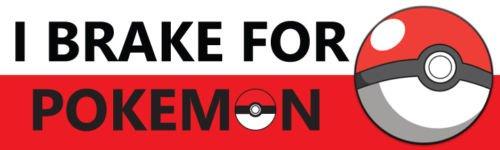 Pokemon GO Vinyl Decal Sticker - I Brake for Pokemon (Halloween Lancaster Pa)