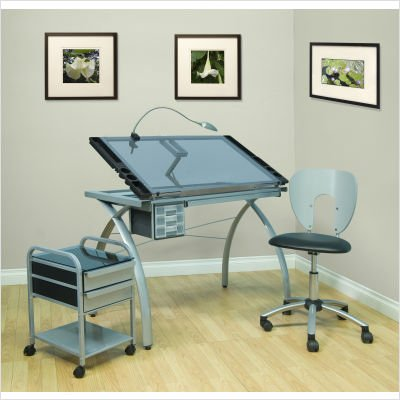Glass Futura Drafting Table Collection