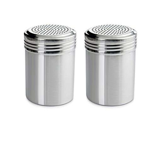 New Star Foodservice 28478 Stainless Steel Dredge Shaker, 10-Ounce, Set of 2 (Kolder Salad Dressing Bottle compare prices)