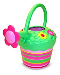 Melissa & Doug Water Fun Set For Girls - Contains Blossom Bright Sprinkler and Watering Can