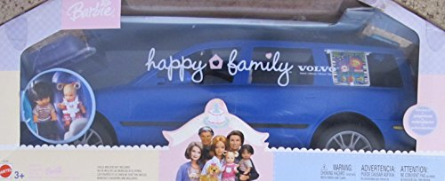 BARBIE Happy Family VOLVO V70 Vehicle VAN SUV w 2 CAR SEATS, HATCH BACK (Opens/Closes) & More! (2002 DARK BLUE SUV) (Barbie Doll Camper Van compare prices)