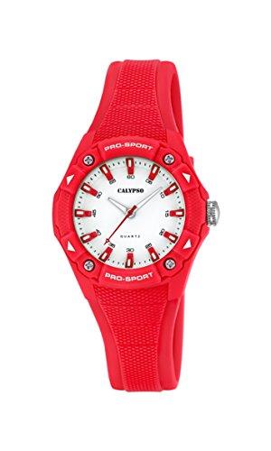 Calypso-Orologio Unisex al quarzo con Display analogico e cinturino in plastica, colore: rosso, K5675/7