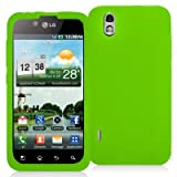 Neon Green Silicone Rubber Gel Soft Skin Case Cover New for LG Optimus Black P970 / LS855 / LG B - Electromaster(TM) Brand