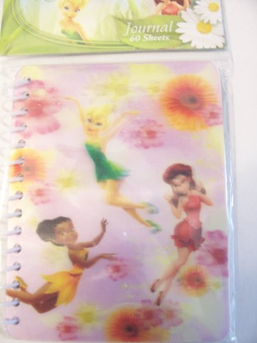 Disney Fairies Lenticular Journal ~ 60 Sheets (120 Pages) by Innovative Designs - 1