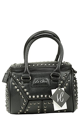 LA CARRIE BAG Borsa Caps Bauletto Ecopelle Nero Art 162-C 920 A16