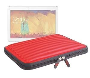"""Etui de transport rouge en mousse à mémoire de forme pour Samsung Galaxy Note 10 Edition 2014 Tablette 10,1"""" SM-P600 / P601 / P605 16 Go 32 Go"""