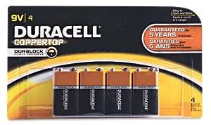 Procter & Gamble/Duracell MN16B4DW 4-Pk. 9V Alkaline Batteries - Quantity 12