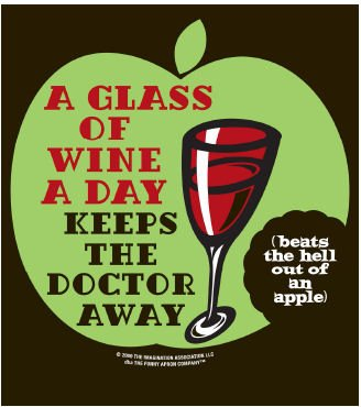 A Glass Of Wine A Day Keeps The Doctor Away Apron