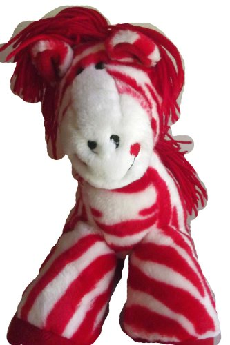 "Peppermint Horse Christmas Valentine Plush Toy 11"" Beanie Collectible - 1"