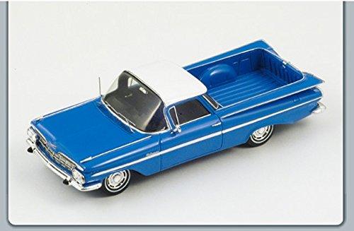 chevrolet-impala-el-camino-1959-blue-white-143-spark-model-auto-stradali-modello-modellino-die-cast