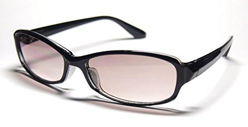 99%UVカット サングラス /4977 (ブラック×グレーハーフ)