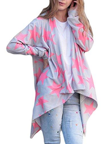 Tkria Autunno Invernale Donna Slash Cardigan Maniche Lunghe Maglia Maglioni Asimmetrico Camicetta Cappotto Casual Jacket Supera
