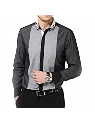 Dazzio Men's Slim Fit Cotton Casual Shirt - B00MND0TE4