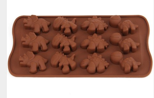 Tojoy Dinosaur Muffin Sweet Candy Jelly Ice Silicone Mould Mold Baking Pan Tray Make front-318158