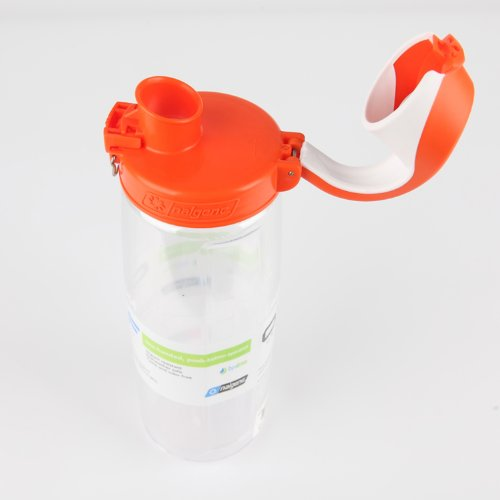 Nalgene On The Fly Water Bottle Clear With Orange White