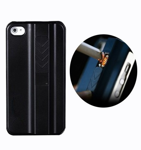 Travel New Arrival Stylish Hard Case With Rechargeable Lighter Phone Shell For Iphone 4 4S 4G Electronic Rechargeable Cigarette Lighter Case For Iphone 4 & 4S Sleek Protective Case With Built-In No-Flame Lighter Cigarette Lighter Pc Hard Cases For Iphone
