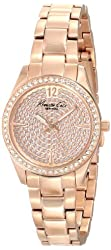 Kenneth Cole New York Women's KC0005 Classic Round Rose Gold Stone Dial Bezel Bracelet Watch