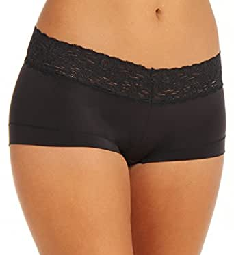 Maidenform Women's Dream with Lace Boyshort, Black, 5