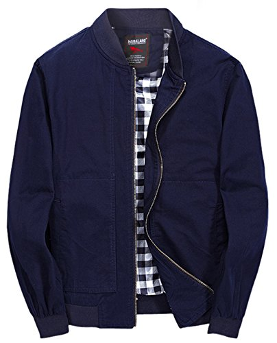 Chouyatou Men's Casual Long Sleeve Full Zip Jacket with Shoulder Straps (X-Small, 41Navy)