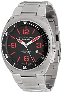 Stuhrling Original Men's Aquadiver Marine Diamond Analog Display 410.33116