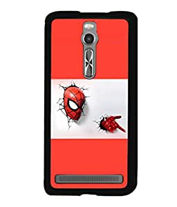 printtech Superhero cool Back Case Cover for Asus Zenfone 2 , Asus Znfone 2 ZE550ML