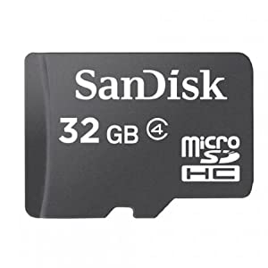 Sandisk 32GB MicroSDHC (MicroSD) Memory Card For Samsung Galaxy S II S2 4G | Galaxy i9103 R | Conquer 4G | Exhibit 4G | Dart Mobile Phone