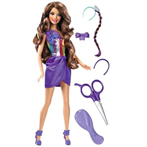 Barbie Hair Cutting Games on Barbie Hair Tastic  Cut   Style Doll  Brunette   Amazon Co Uk  Toys
