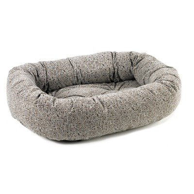 Bowsers Microvelvet Donut Dog Bed - Mosaic Slate/Small