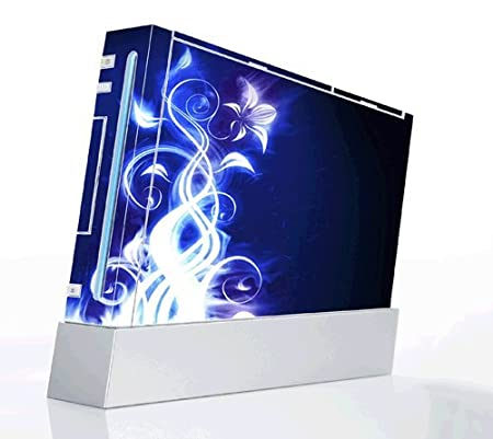 Electric Flower Decorative Protector Skin Decal Sticker for Nintendo Wii Console