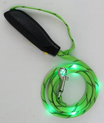 LITEY LEASH The 5-Foot LED Nighttime Leash - Up To 90 Pounds