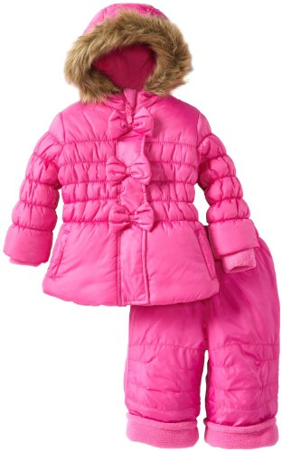 Best Rothschild Baby Girls Infant 2 Piece Peplum Bubble Snowsuit with Bow Detail - Rock Candy (18 Months)  Review