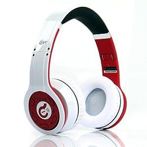 Syllable bluetooth ワイヤレスヘッドフォン 携帯電話対応 G08シリーズ 並行輸入 (G08-002 White×Red ホワイト×レッド)